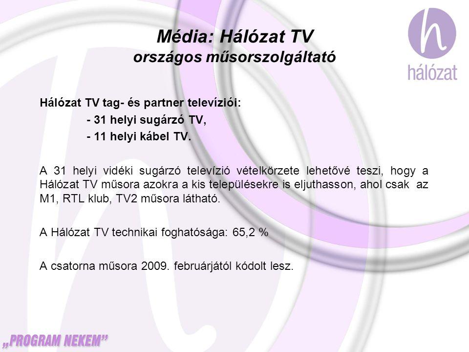 Hálózat TV tag- és partner televíziói: - 31 helyi sugárzó TV, - 11 helyi kábel TV. A 31 helyi vidéki sugárzó televízió vételkörzete lehetővé teszi, ho