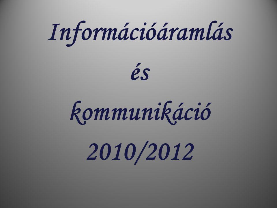Információáramlás és kommunikáció 2010/2012
