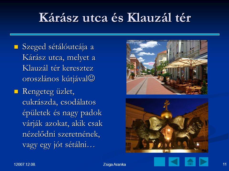 12007.12.08. 10 Zsiga Aranka A Móra Ferenc Múzeum és környéke A Móra Ferenc Múzeum sok szép festménnyel és kiállítással várja a látogatóit. A Móra Fer