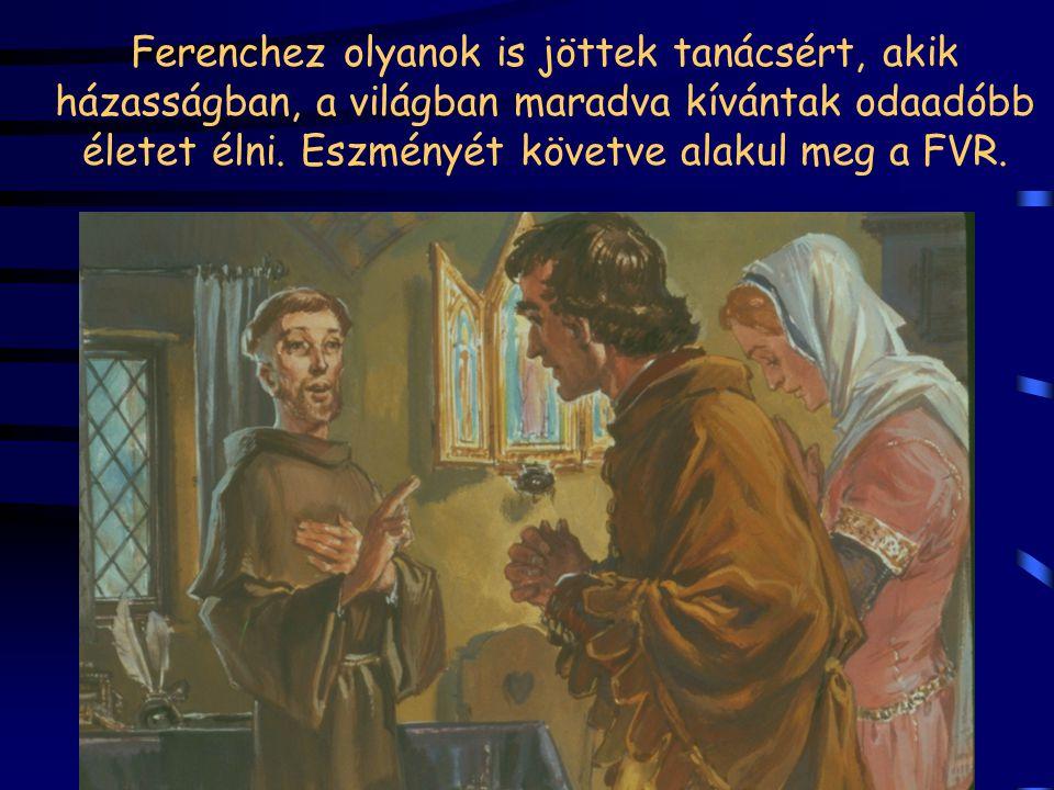 """Klára elhagyja a szülői házat, és Ferenc """"felfogadja őt az engedelmességre"""", azaz szerzetesi életet kezd Ferenc eszménye alapján 1212 Virágvasárnapján"""