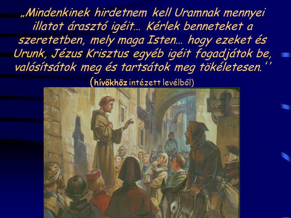 Ferenc elmegy a szentföldre és találkozik Melek-el-Kamel szultánnal 1219 őszén. Fegyver nélkül hirdeti az evangéliumot.