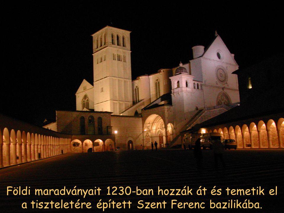 4-én temették el a Szent György templomba. Alig két ével később IX. Gergely pápa szentté avatta