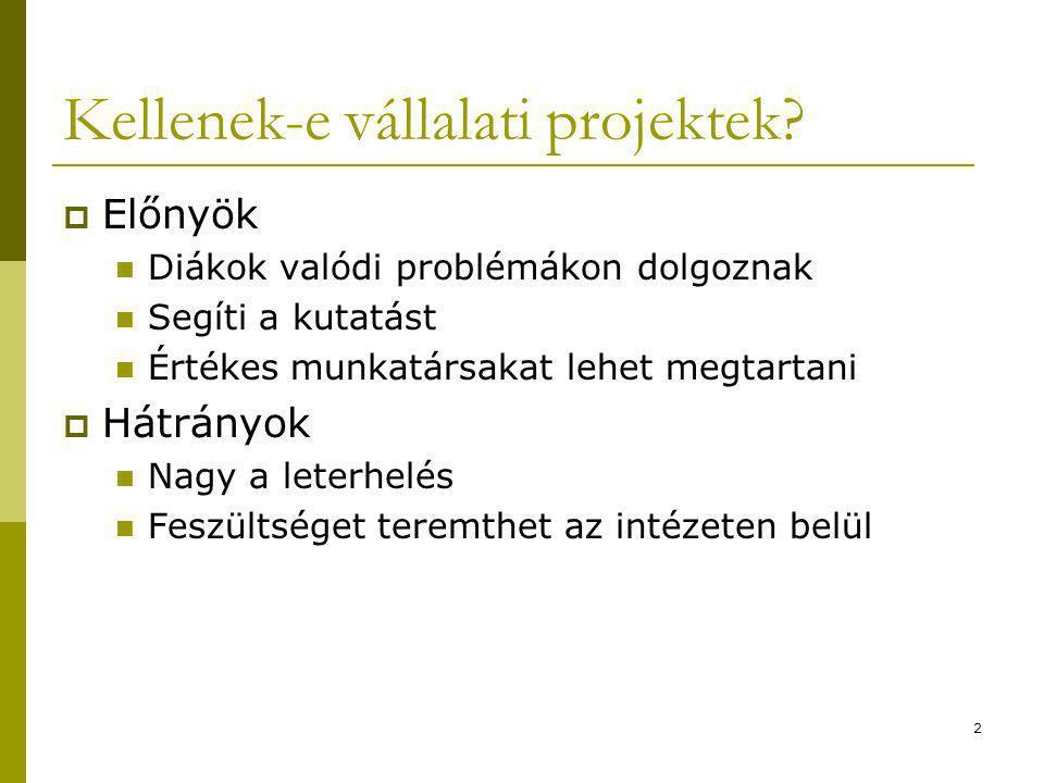 2 Kellenek-e vállalati projektek.
