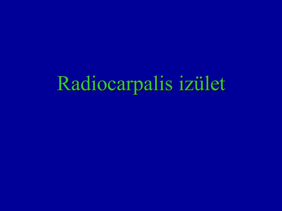 Radiocarpalis izület