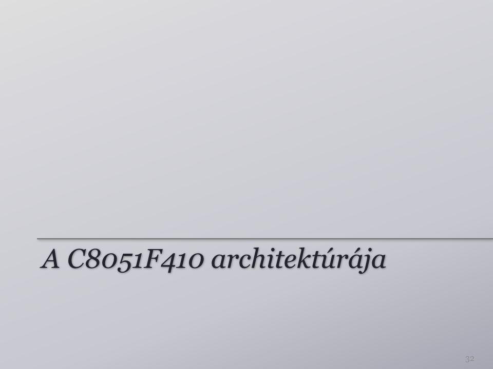 A C8051F410 architektúrája 32