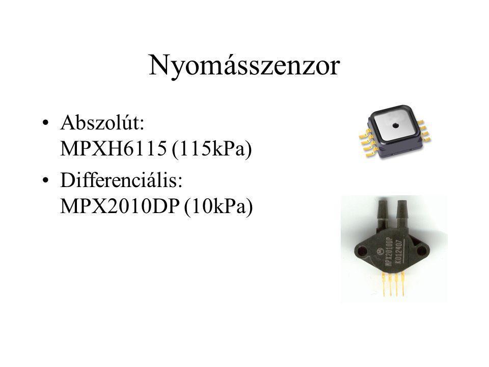 Nyomásszenzor Abszolút: MPXH6115 (115kPa) Differenciális: MPX2010DP (10kPa)