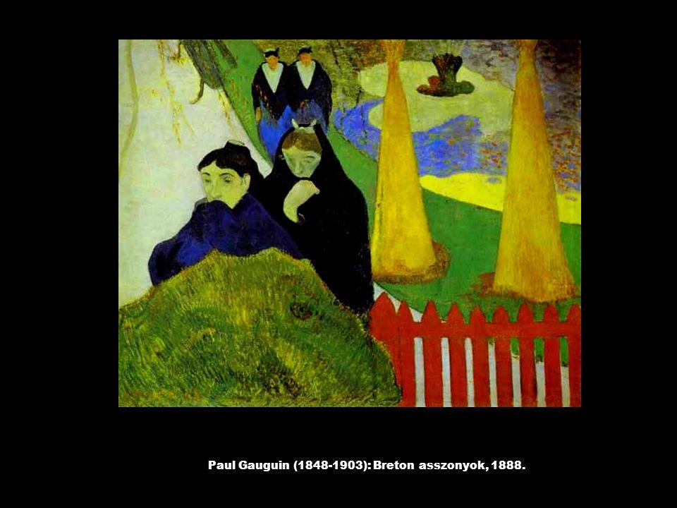 Paul Gauguin (1848-1903): Breton asszonyok, 1888.