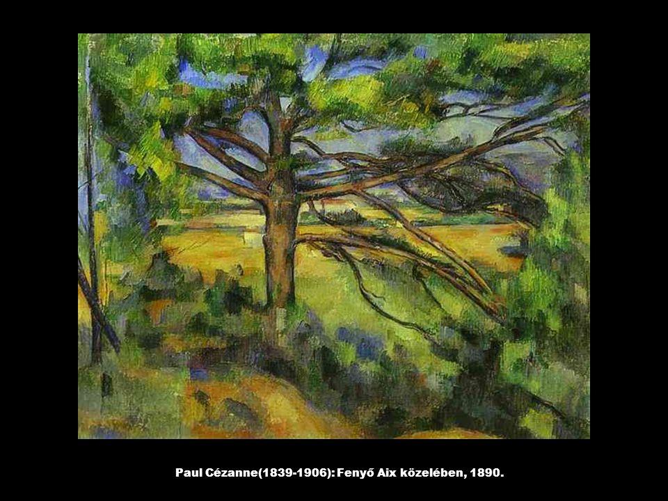 Paul Cézanne(1839-1906): Fenyő Aix közelében, 1890.