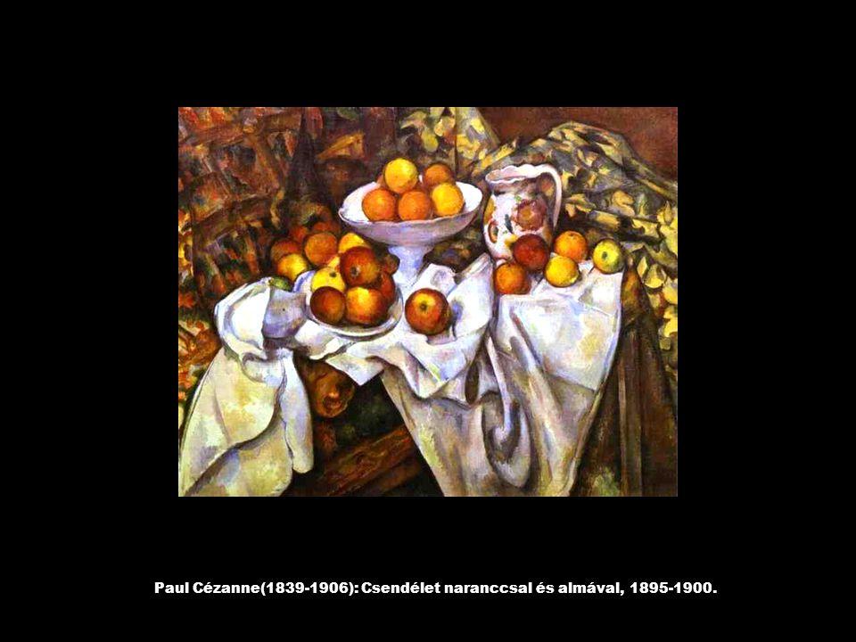 Paul Cézanne(1839-1906): Csendélet naranccsal és almával, 1895-1900.