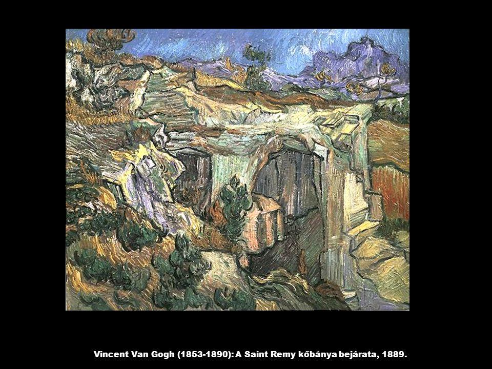 Vincent Van Gogh (1853-1890): A Saint Remy kőbánya bejárata, 1889.