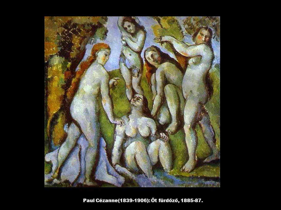 Paul Gauguin (1848-1903): Vízió szentmise után, Jákob harca az angyallal, 1888.