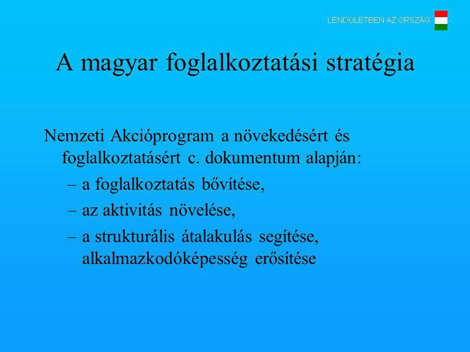 A magyar foglalkoztatási stratégia Nemzeti Akcióprogram a növekedésért és foglalkoztatásért c.