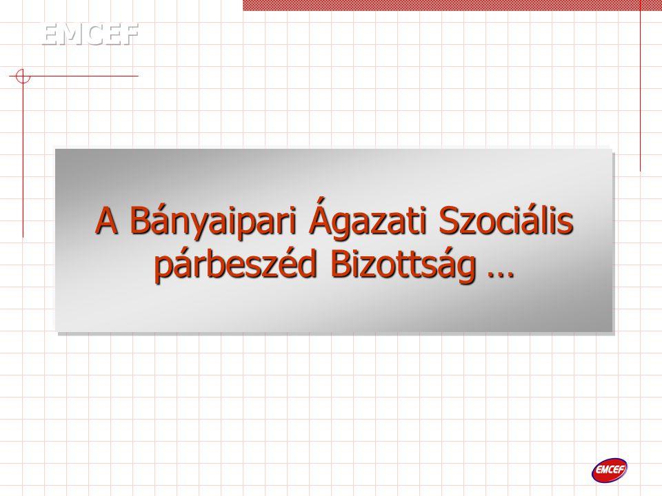 A Bányaipari Ágazati Szociális párbeszéd Bizottság …