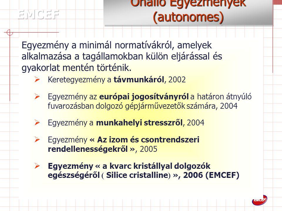 Egyezmény a minimál normatívákról, amelyek alkalmazása a tagállamokban külön eljárással és gyakorlat mentén történik.
