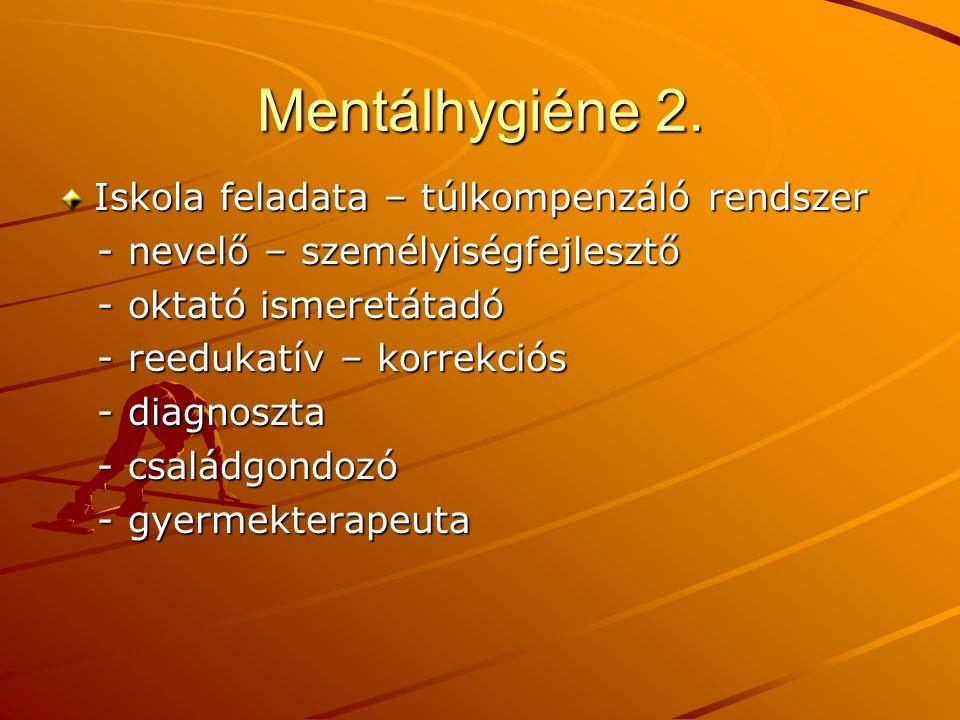 Mentálhygiéne 3.