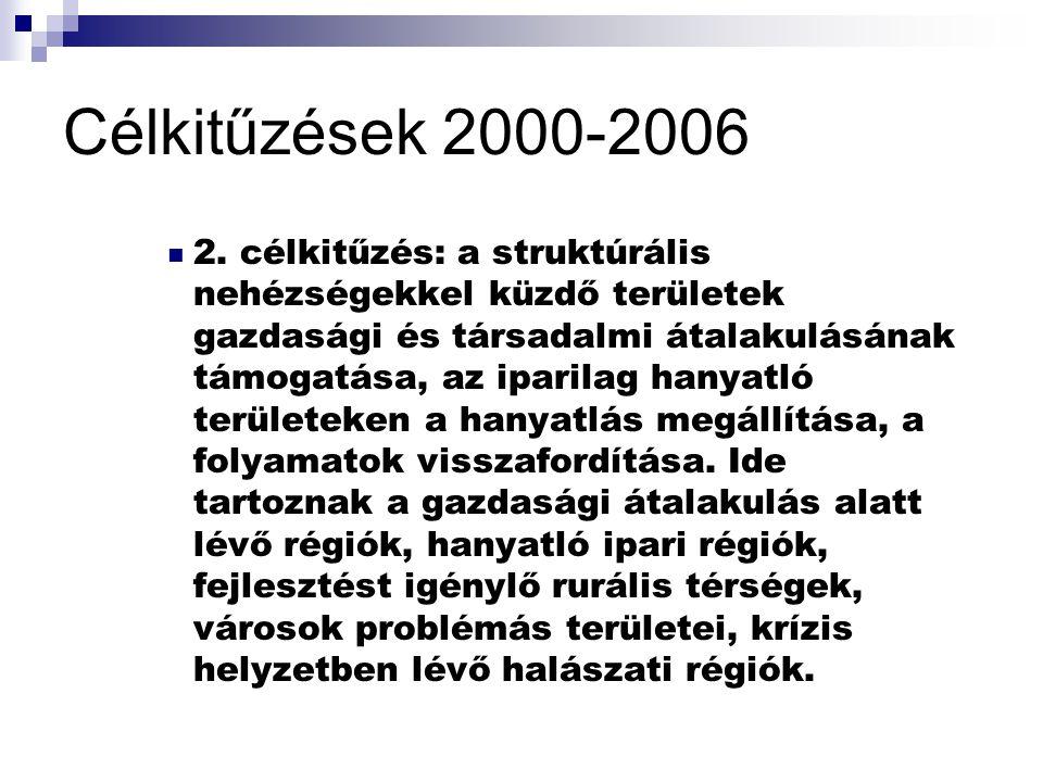 Célkitűzések 2000-2006 3.