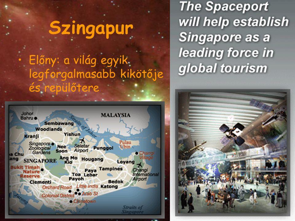 Szingapur Előny: a világ egyik legforgalmasabb kikötője és repülőtere