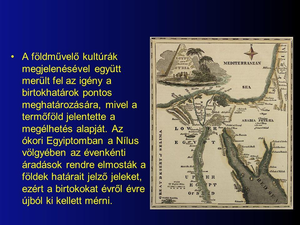Története A geodézia egyidős a térképek megjelenésével, mivel azok a geodéziai mérések grafikus ábrázolásai.