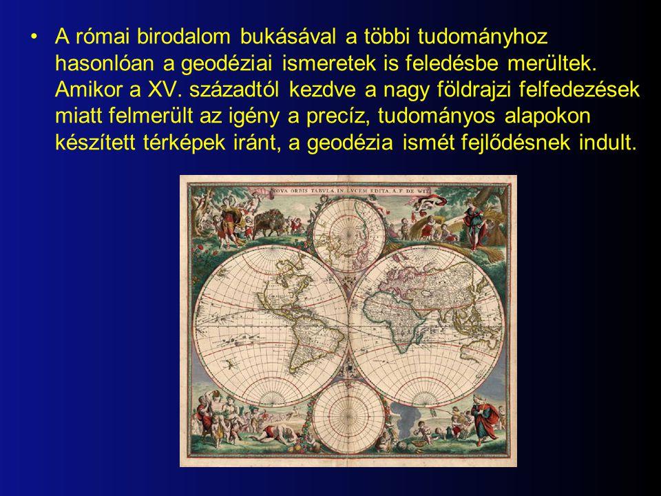 A római birodalom bukásával a többi tudományhoz hasonlóan a geodéziai ismeretek is feledésbe merültek.