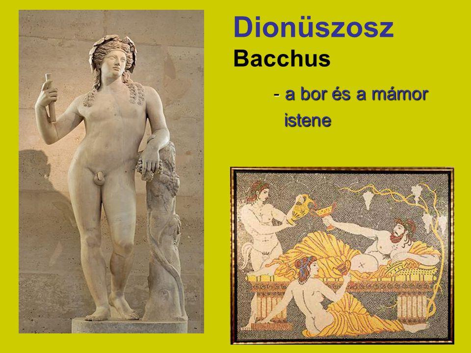 Dionüszosz Bacchus - a bor és a mámor istene istene