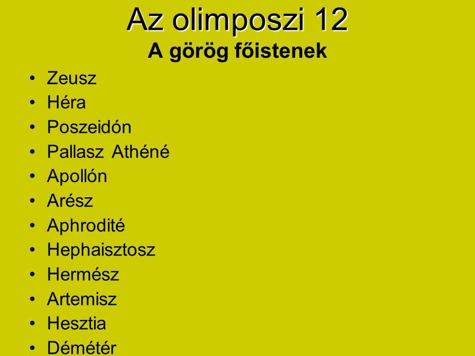 ZeuszZeusz (görög) Jupiter (római) - Főisten, az égbolt ura