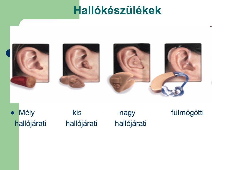 Hallókészülékek Mély kis nagy fülmögötti hallójárati hallójárati hallójárati