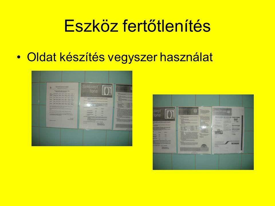 Sterilizáló készülék Formalin sterilizáló készülék 0,2-1,5g/l formalin 60-70 C° 100% relatív páratartalom 30perctől-2 óra 0,7-0,8 bar nyomás