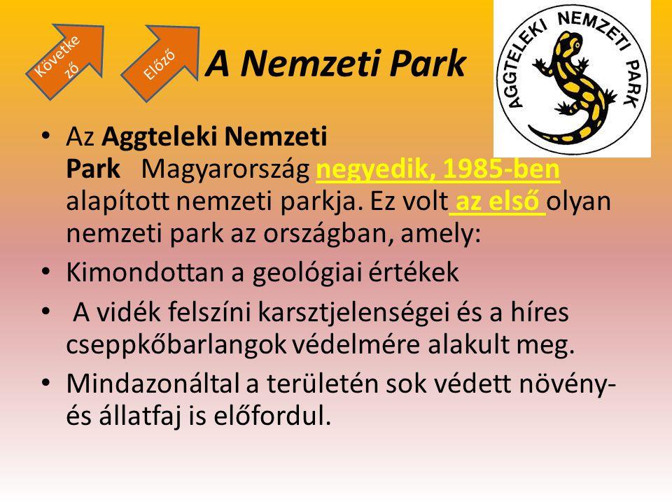 A Nemzeti Park Az Aggteleki Nemzeti Park Magyarország negyedik, 1985-ben alapított nemzeti parkja. Ez volt az első olyan nemzeti park az országban, am