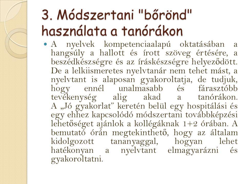 3. Módszertani