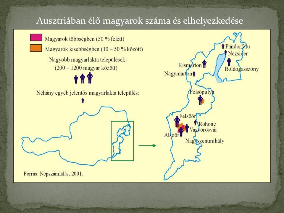 Ausztriában élő magyarok száma és elhelyezkedése