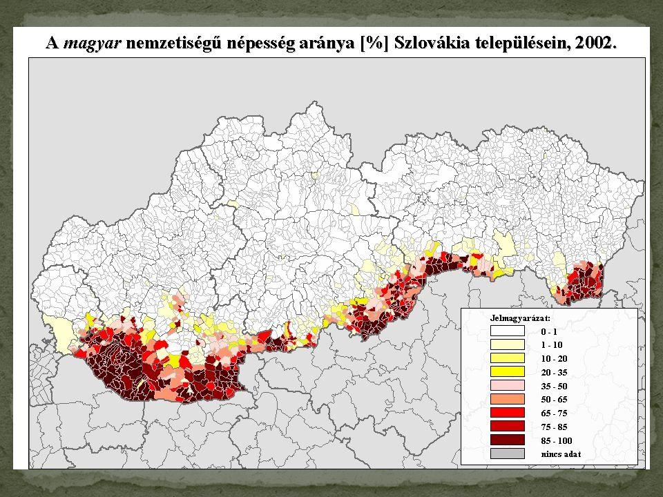 A magyar lakosság csökkenése Szlovéniában