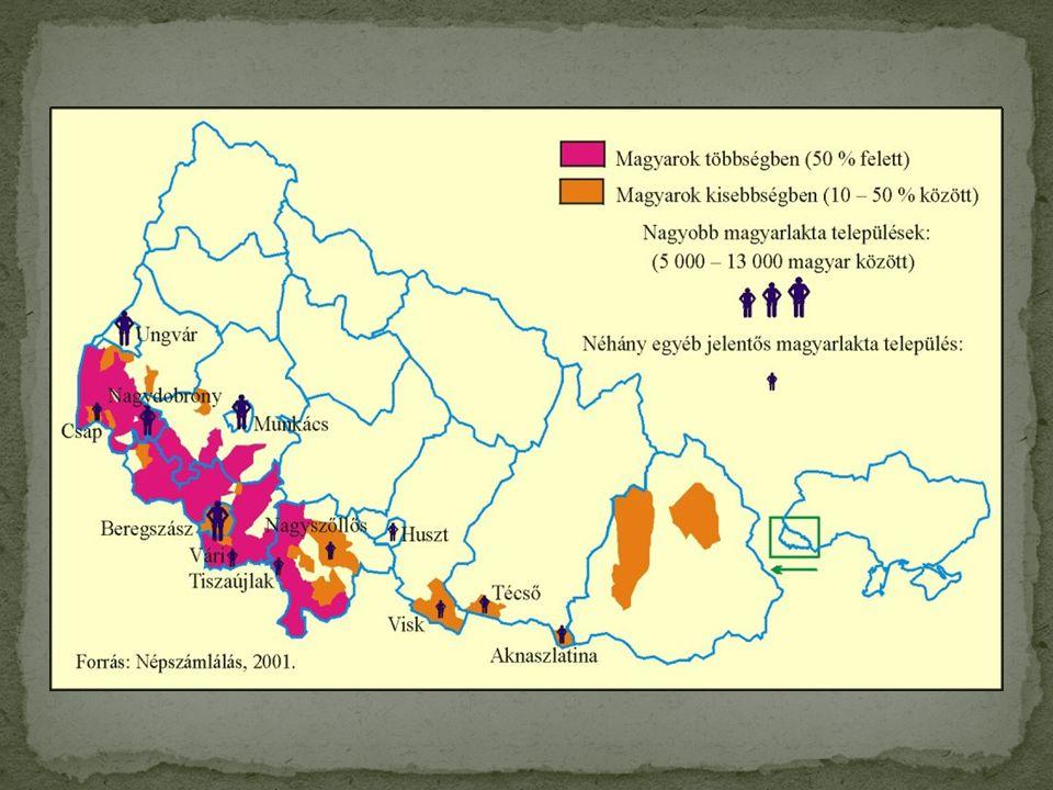 A magyar lakosság számának csökkenése Kárpátalján