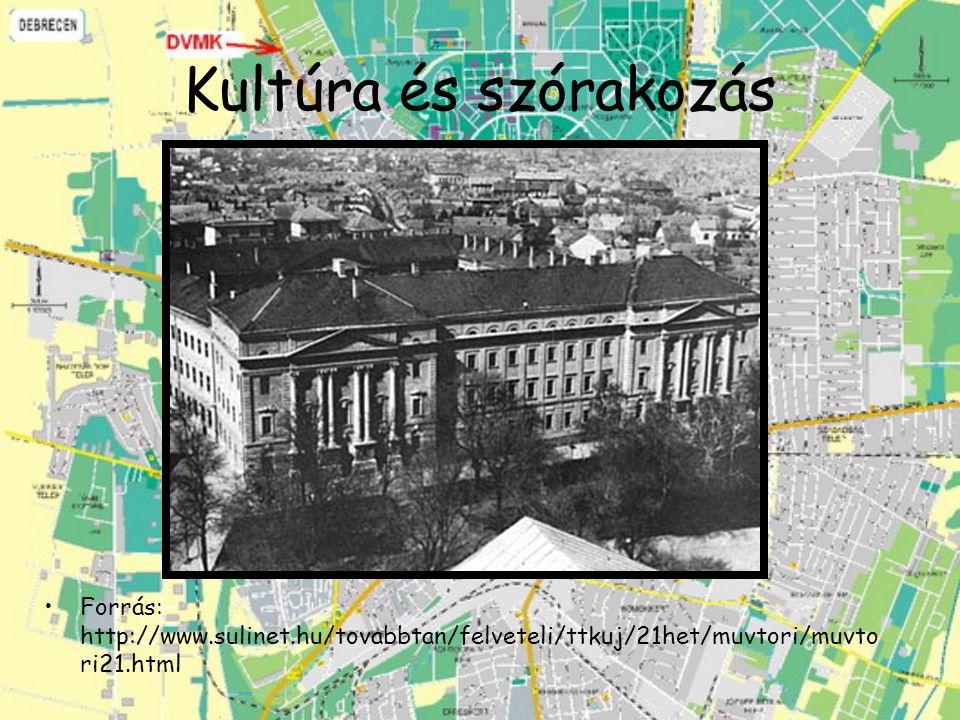 Kultúra és szórakozás Forrás: http://www.sulinet.hu/tovabbtan/felveteli/ttkuj/21het/muvtori/muvto ri21.html