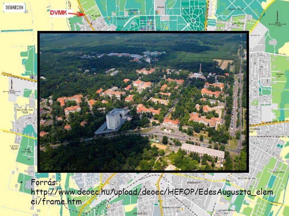 Forrás: http://www.deoec.hu/upload/deoec/HEFOP/EdesAuguszta_elem ei/frame.htm