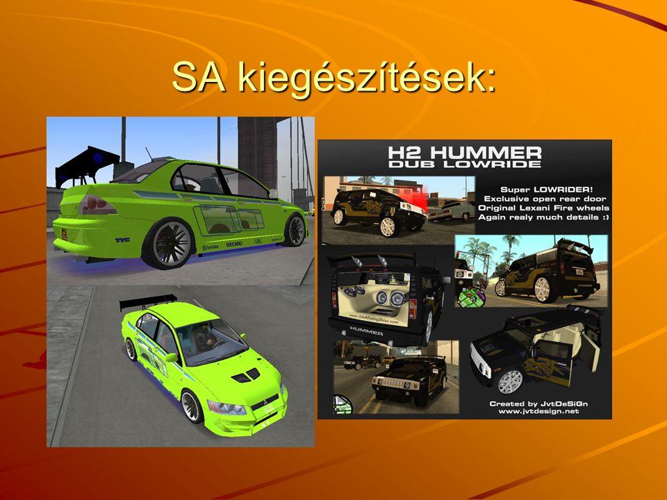SA kiegészítések: