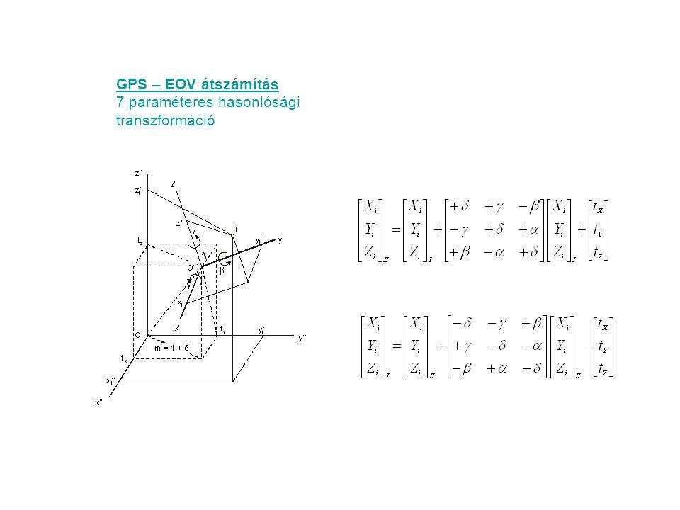 7 paraméteres hasonlósági transzformáció