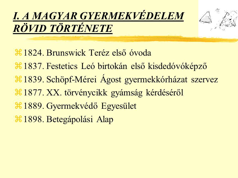 I.A MAGYAR GYERMEKVÉDELEM RÖVID TÖRTÉNETE z1901. Széll Kálmán I.