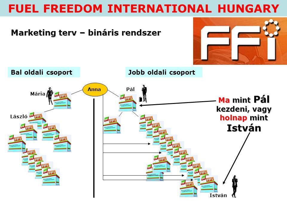 FUEL FREEDOM INTERNATIONAL HUNGARY Vegyél részt velünk a piac kiépítésében.