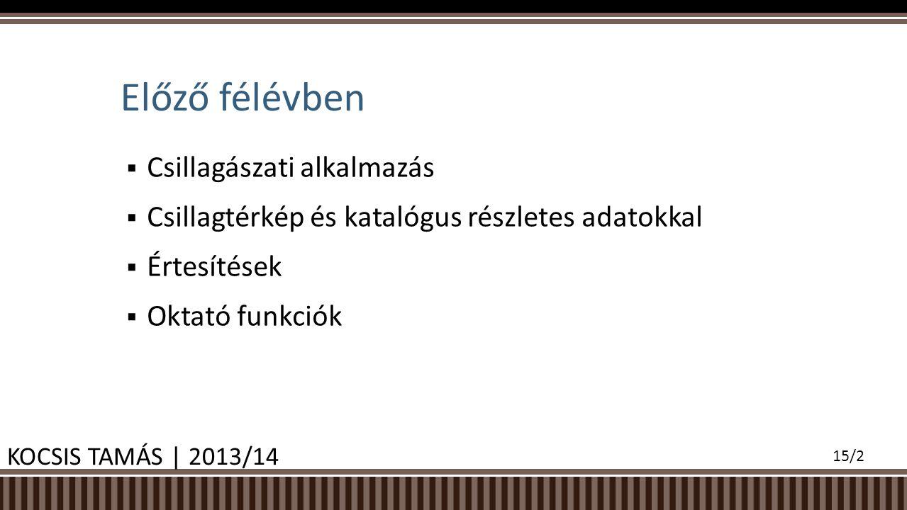 Results KOCSIS TAMÁS | 2013/14 15/13