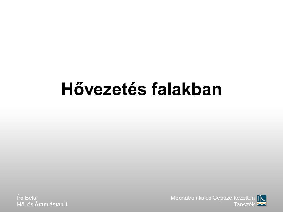 Hővezetés falakban Író Béla Hő- és Áramlástan II. Mechatronika és Gépszerkezettan Tanszék
