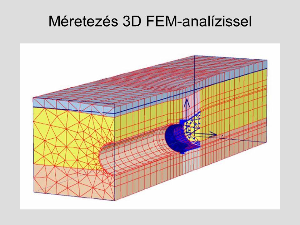 Méretezés 3D FEM-analízissel