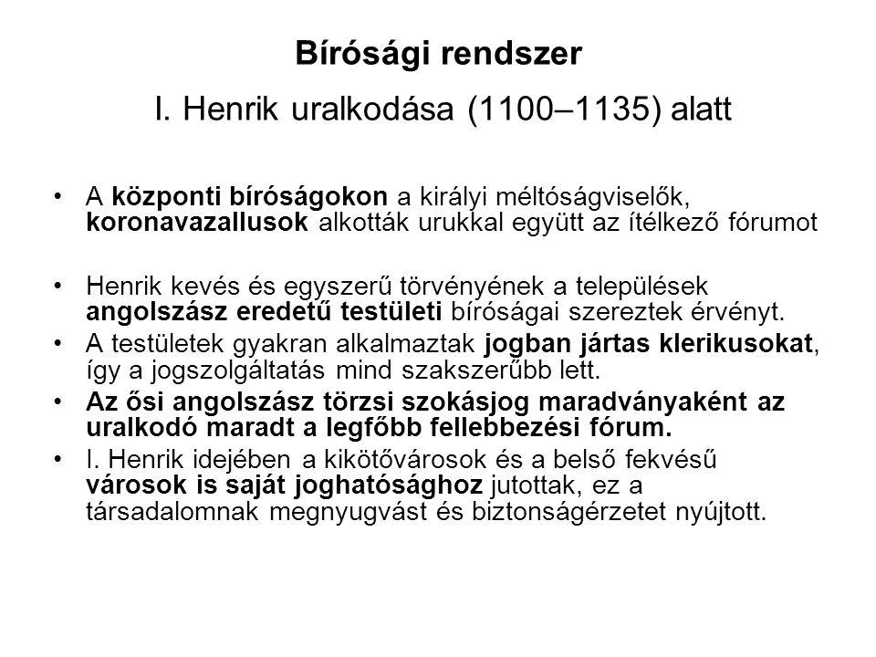 Bírósági rendszer I.