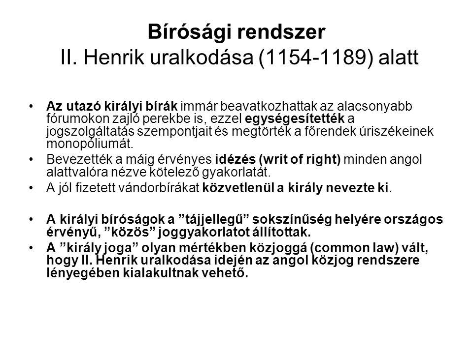 Bírósági rendszer II.