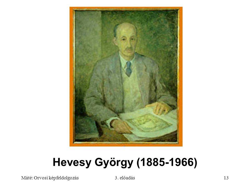 Máté: Orvosi képfeldolgozás3. előadás13 Hevesy György (1885-1966)