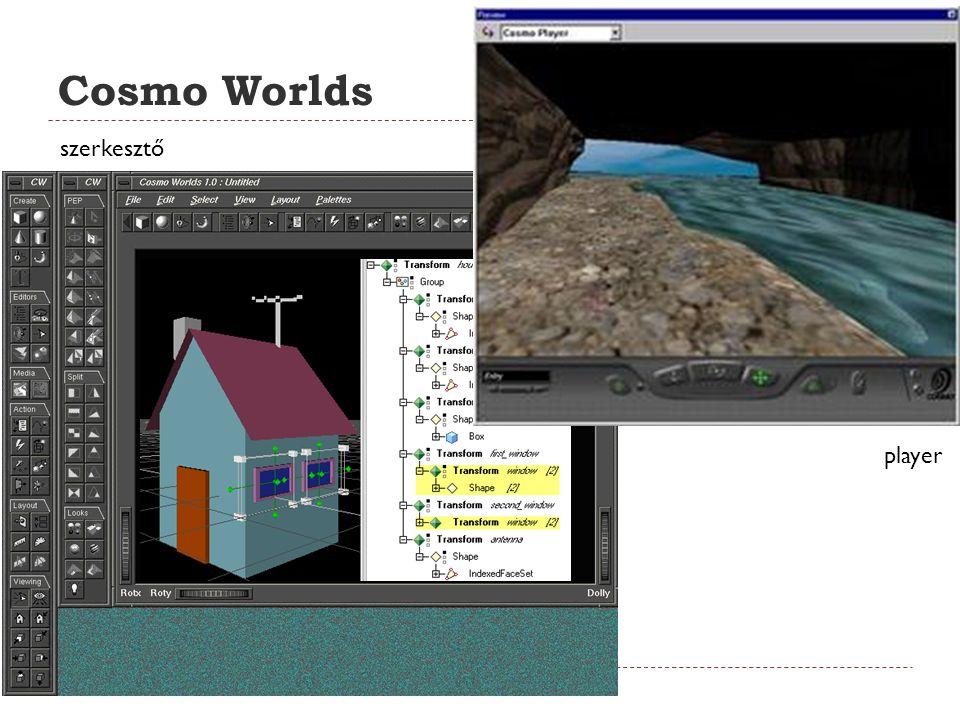Cosmo Worlds szerkesztő player