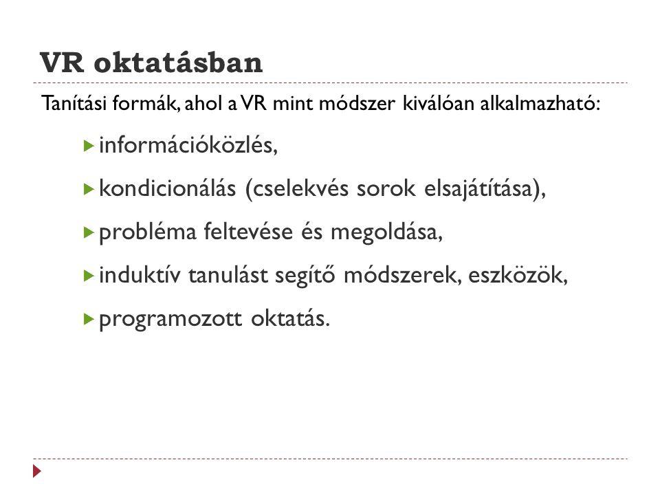 VR oktatásban Hátrányai 1.