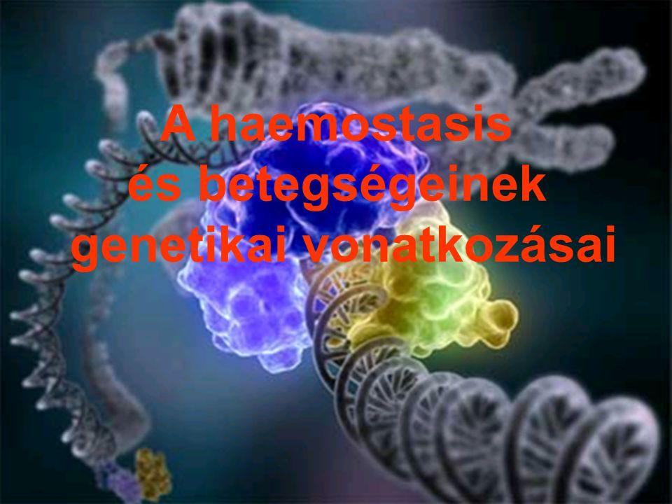 ÖRÖKLETES RENDELLENESSÉGEK Thrombofíliák Koagulopátiák A thrombocyták veleszületett rendellenességei