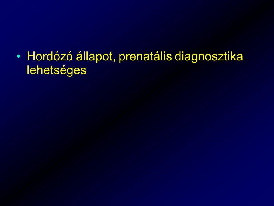 Hordózó állapot, prenatális diagnosztika lehetséges