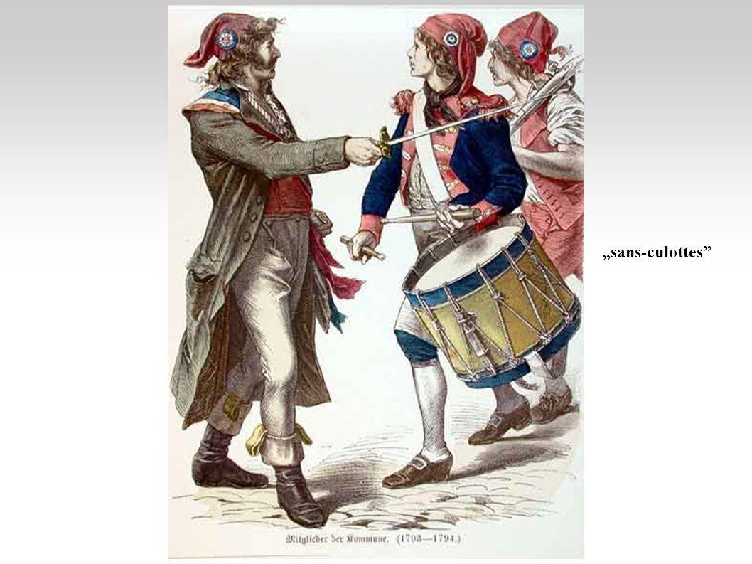 Politikai klubok Királypárt: a régi rend hívei (arisztokrácia, nemesség) Alkotmányos monarchisták: az új alkotmány hívei (arisztokrácia, nemesség, nagypolgárság) Girondiak: köztársaságpártiak (középpolgárság, hivatásos politikusok) - Brissot Jakobinusok: radikális tömegmozgalom hívei (kispolgárság, hivatásos politikusok) - Robespierre Brissot Robespierre