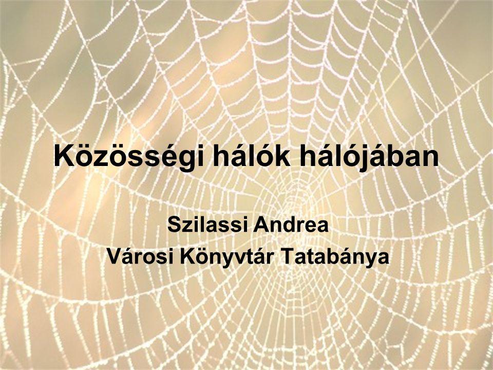 Közösségi hálók hálójában Szilassi Andrea Városi Könyvtár Tatabánya